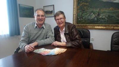 Spendenübergabe  2018 an den Lenggrieser Bürgermeister, Werner Weindl